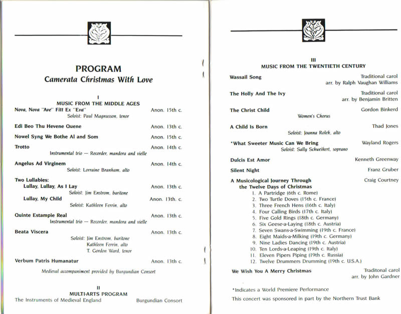 Sample Concert Program Band Orchestra Choir Concert Program